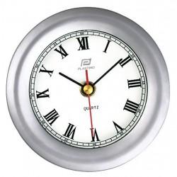Clock 4 inch matte chrome -...