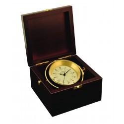 Gimballed clock in box -...