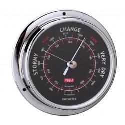 Barometer chrome black dial...